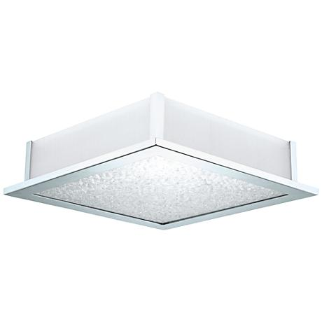 "Eglo Auriga Crystal 15 1/4"" Wide Glass Ceiling Light"