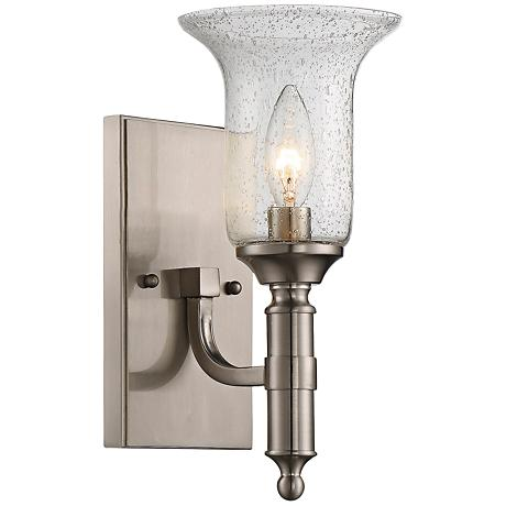 """Savoy House Trudy 11 1/4"""" High Satin Nickel Wall Sconce"""