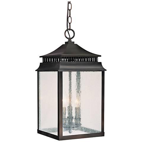 "Sutter Creek 20 3/4""H Bronze Outdoor Hanging Light"