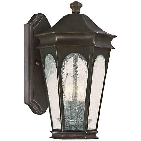 "Capital Inman Park 17"" High Old Bronze Outdoor Wall Light"