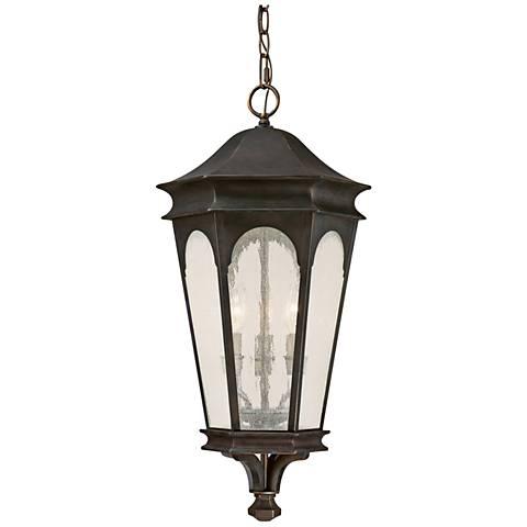 "Capital Inman Park 26""H Bronze Outdoor Hanging Light"