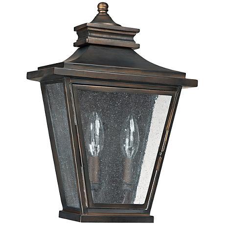 """Capital Astor 14""""H Old Bronze Steel Outdoor Wall Light"""