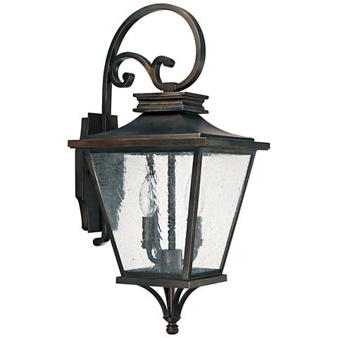 """Capital Gentry 22"""" High Old Bronze Outdoor Wall Light"""