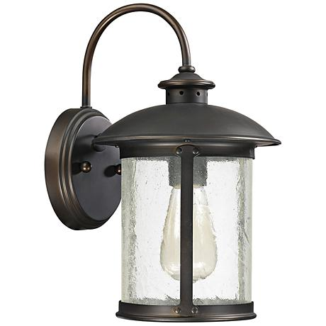 "Capital Dylan Glass 12 1/2""H Bronze Outdoor Wall Light"