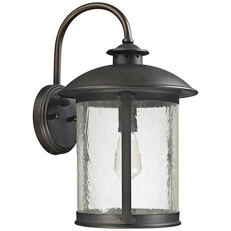 """Capital Dylan Glass 18 1/2""""H Bronze Outdoor Wall Light"""