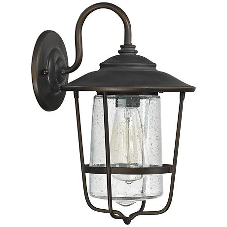 """Capital Creekside 13 1/4""""H Old Bronze Outdoor Wall Light"""