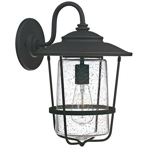 "Capital Creekside 16 1/4"" High Black Outdoor Wall Light"