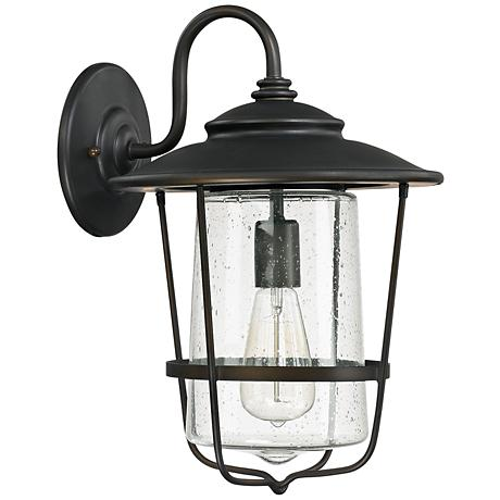 """Capital Creekside 16 1/4""""H Old Bronze Outdoor Wall Light"""