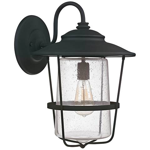 "Capital Creekside 18 1/2"" High Black Outdoor Wall Light"