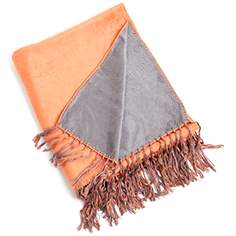 persimmon bamboo reversible throw blanket - Decorative Throws