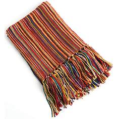 clay bamboo reversible woven design throw blanket - Decorative Throws