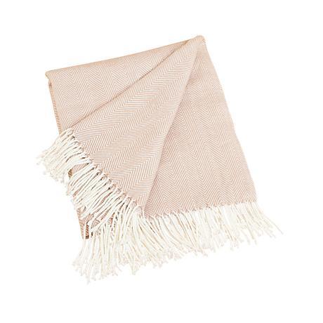 Camel Herringbone Design Throw Blanket
