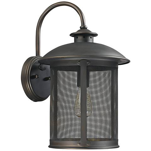 "Capital Dylan Mesh 18 1/2"" High Bronze Outdoor Wall Light"