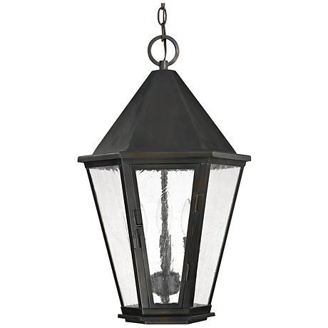 "Capital Spencer 22 3/4""H Old Bronze Outdoor Hanging Light"