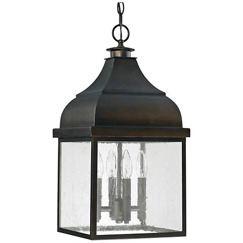 "Capital Westridge 22 1/4""H Old Bronze Outdoor Hanging Light"