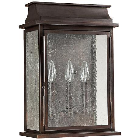 """Capital Bolton 17 1/4"""" High Old Bronze Outdoor Wall Light"""