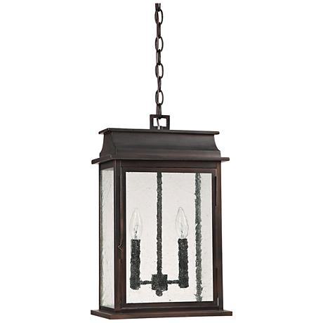 """Capital Bolton 18 3/4""""H Old Bronze Outdoor Hanging Light"""