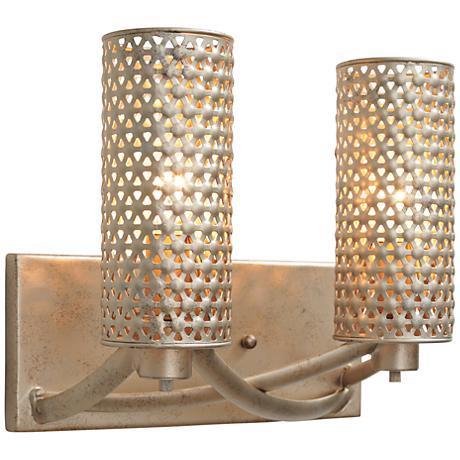 Varaluz casablanca 11 wide zen gold bath light 1h970 for Zen bathroom lighting