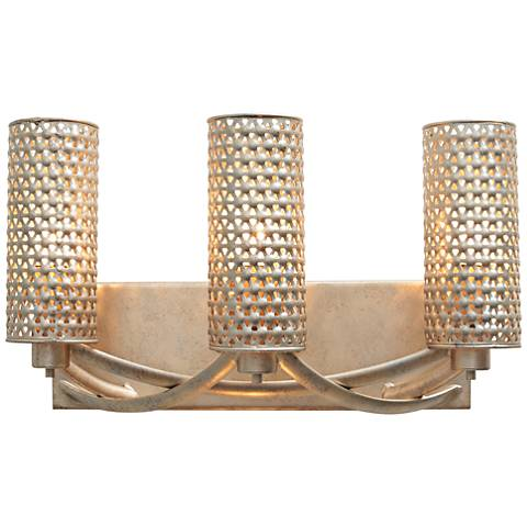 "Varaluz Casablanca 17"" Wide Zen Gold Bath Light"