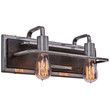 "Varaluz Lofty 17 1/4"" Wide Steel and Wood Bath Light"