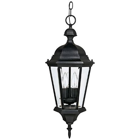 """Carriage House 23""""H Black Outdoor Hanging Light"""