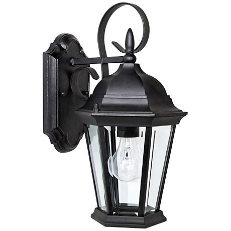 """Capital Carriage House 16"""" High Black Outdoor Wall Light"""