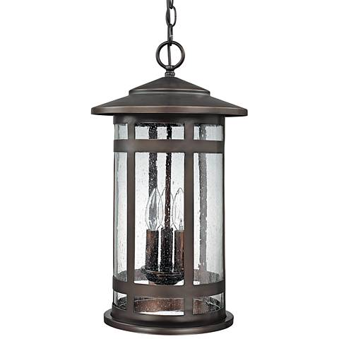 "Capital Mission Hills 19""H Bronze Outdoor Hanging Light"