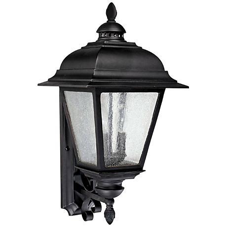 "Capital Brookwood 25"" High Large Black Outdoor Wall Light"