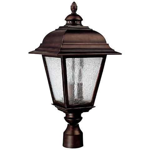 "Capital Brookwood 24"" High Old Bronze Outdoor Post Light"