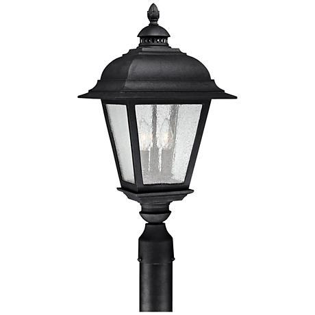 "Capital Brookwood 24"" High Matte Black Outdoor Post Light"