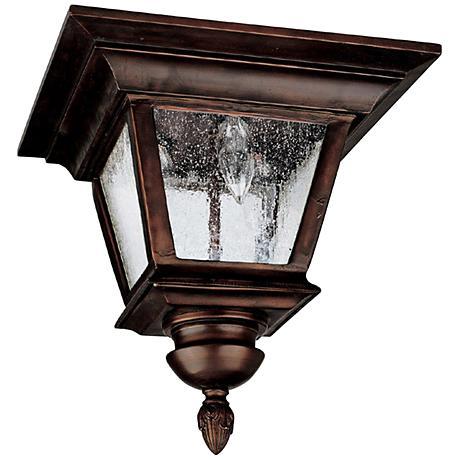 """Capital Brookwood 11 1/2""""W Bronze Outdoor Ceiling Light"""