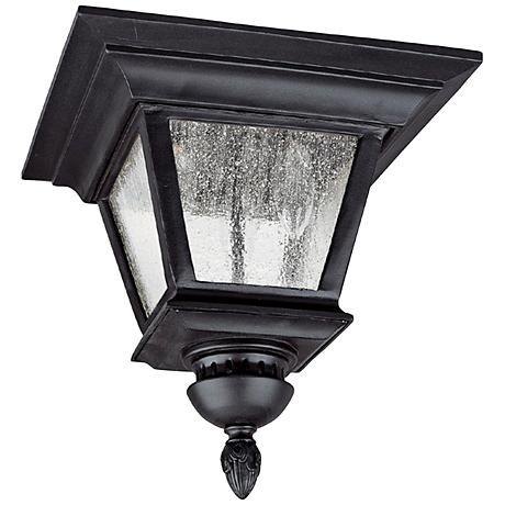 "Capital Brookwood 11 1/2""W Black Outdoor Ceiling Light"