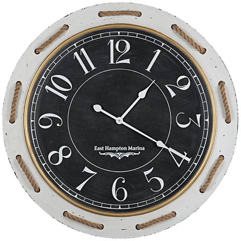"Cooper Classics Hatteras 31 1/2"" Round Wall Clock"