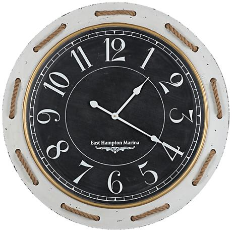 "Cooper Classics Hatteras 31 1/2"" Round Wall Clock"