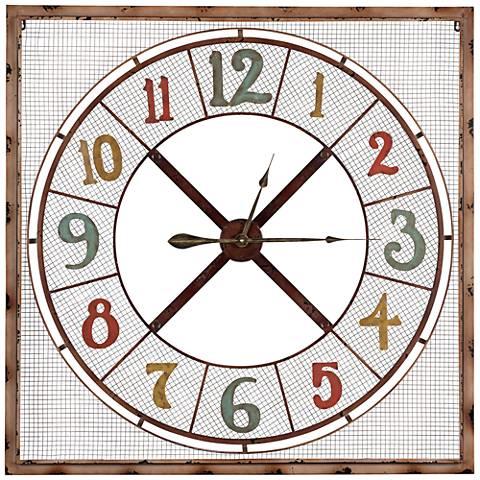 """Cooper Classics 39 1/2"""" Square Maxwell Wall Clock"""