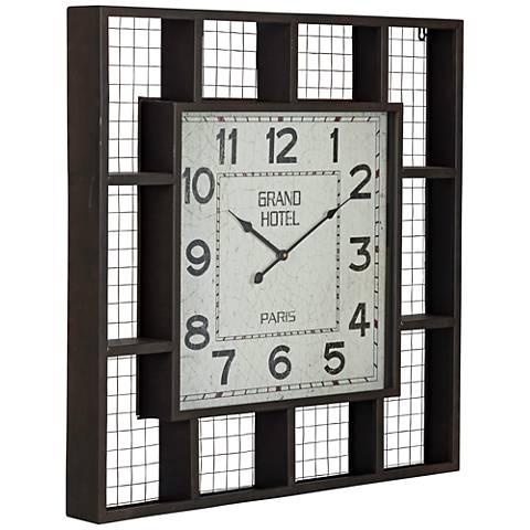 """Cooper Classics Black 29 1/2"""" Square Brianne Wall Clock"""