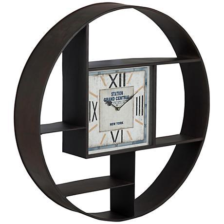 "Cooper Classics Bethany 29 1/2"" Round Wall Clock"