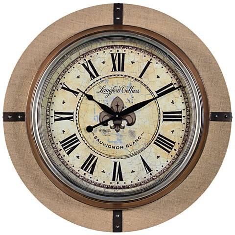 "Cooper Classics Otis Metal 30"" Round Wall Clock"
