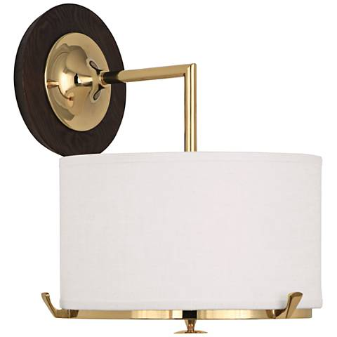 "Robert Abbey Edwin 12 1/2"" High Polished Brass Wall Sconce"