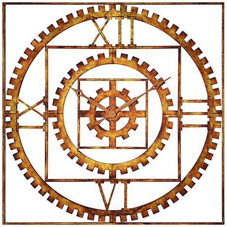 "Cooper Classics Tarrin Copper 25"" Square Wall Clock"