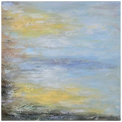 "Cooper Classics Tranquility 40"" Square Abstract Wall Art"