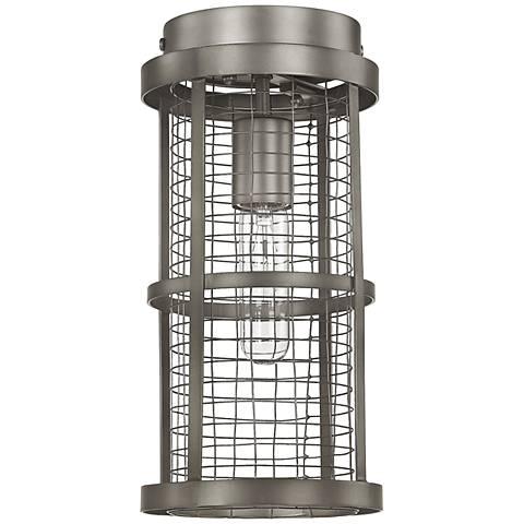 "Donny Osmond Home Davis 6""W Graphite Cage Ceiling Light"