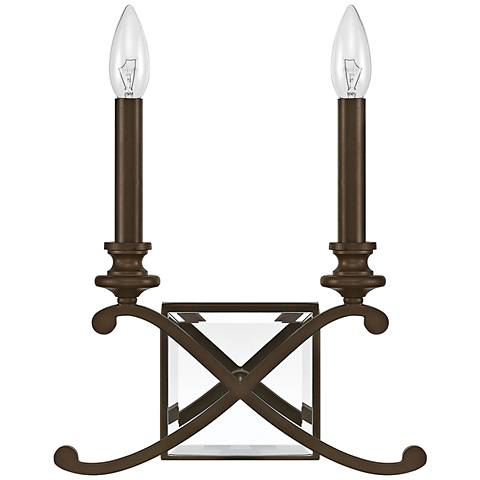 "Donny Osmond Home Alexander 11 1/2""H Bronze Wall Sconce"
