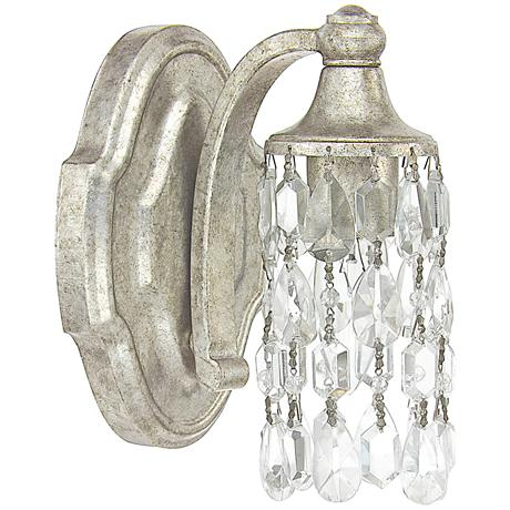 """Capital Blakely 7 3/4""""H Matte Antique Silver Wall Sconce"""