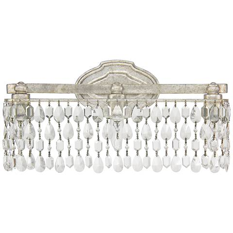 "Capital Blakely 18 1/2""W Crystal Drape Silver Bath Light"