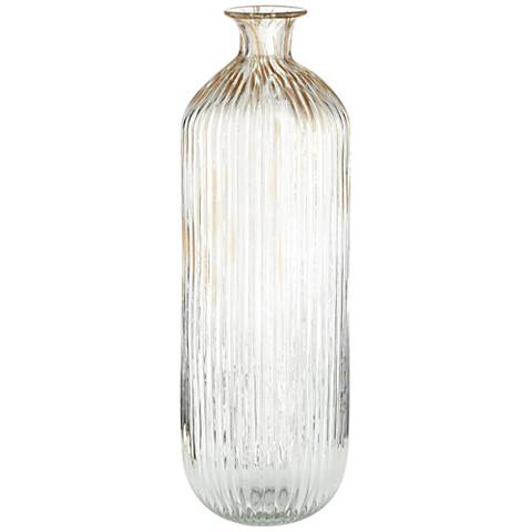"Klarissa Clear Gold 17 1/2"" High Decorative Glass Vase"