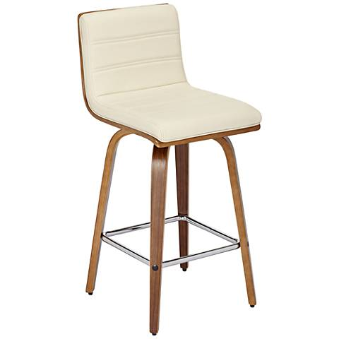 vienna 25 1 4 cream and walnut counter stool 1j160 lamps plus. Black Bedroom Furniture Sets. Home Design Ideas