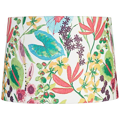 Floral Color Drum Lamp Shade 14x16x11 (Spider)