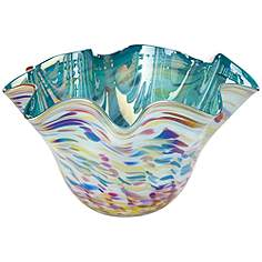 seawind swirl green tall 15 34 wide vase - Decorative Vases