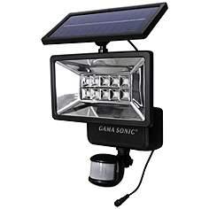 Motion Sensor 12 H Black Outdoor Led Solar Security Light